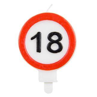 Svečka prometni znak 18