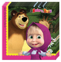 Prtički servieti Maša in Medved