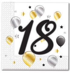 Prtički servieti s številko 18 rojstni dan