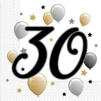 Prtički servieti s številko 30 rojstni dan