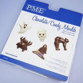 Model za čokolado v motivu noč čarovnic