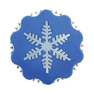 Šablone za dekoracijo snežinka
