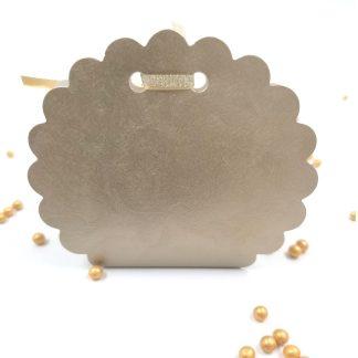 Škatlica za konfete Torbica okrogla