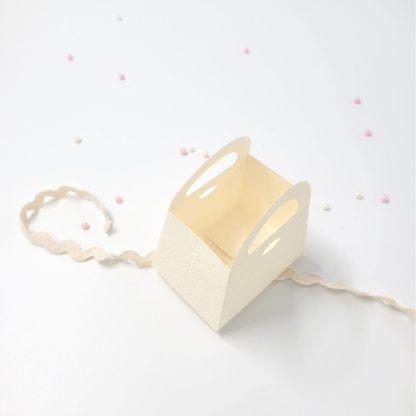 Škatlica za konfete Torbica Bela