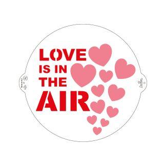 Šablona LOVE IS IN THE AIR