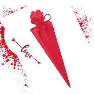 Skatlica za konfete Rdeca Stozec