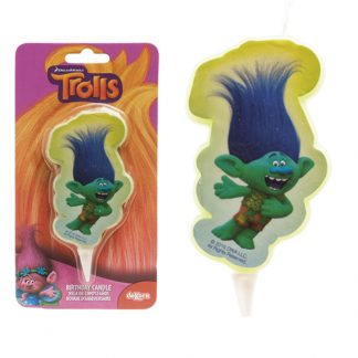 Svečka za torto trolls - zelen