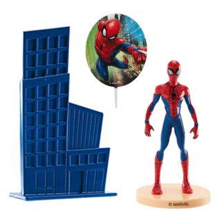 Dekoracija za torto Spiderman s figurico