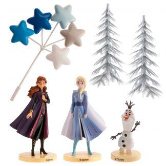 Komplet dekoracija za torto Frozen Elsa in Ana